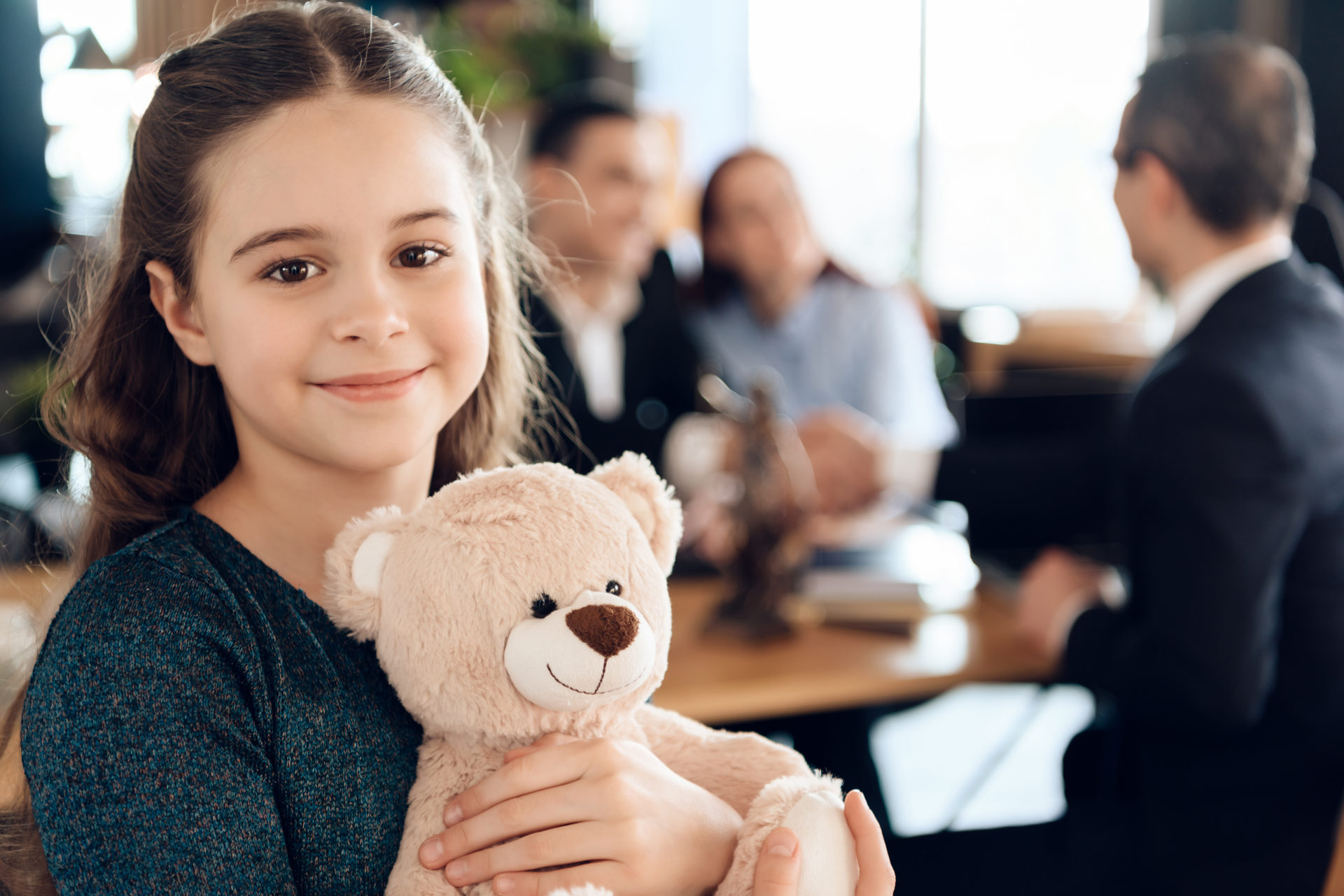 Young girl with her Teddy